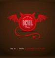 halloween party invitation with devil frame vector image vector image