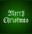 handdrawn merry christmas lettering in vector image