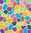 Heart pettern background Colorful heart background vector image vector image