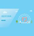 human colon healthcare concept for website vector image vector image