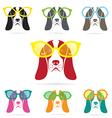 Images of basset hound dog wearing glasses vector image