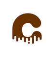 letter c chocolate font sweetness alphabet liquid vector image