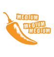 medium chilli vector image