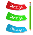 Message Set vector image vector image