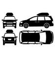 minivan silhouette vector image