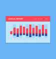 modern bar graph template business infographic vector image vector image