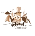 National Cuisine drawing vector image vector image