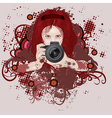 Photographer girl vector image vector image