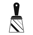 putty knife icon simple style vector image vector image