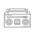 radio line icon vector image