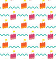 raft seamless pattern background vector image