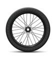 rear wheel bicycle bmx vector image vector image