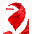 red curtain 3d realistic vector image