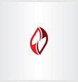red icon letter n or z symbol element vector image vector image
