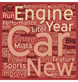 SC sports cars text background wordcloud concept vector image vector image