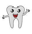 scribble tooth cartoon vector image vector image