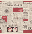 seamless pattern on the theme of newspapers vector image vector image