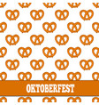 seamless pattern with pretzels for oktoberfest on vector image