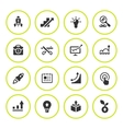 Set round icons of start-up vector image vector image