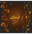 Shiny greeting ornamental pattern lights lines vector image vector image