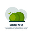 simple tree icons in flat style vector image vector image