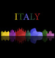 skyline italy vector image vector image