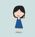 small girl shock emotion vector image