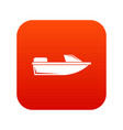 sports powerboat icon digital red vector image vector image