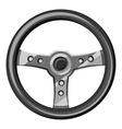 Steering wheel icon gray monochrome style vector image vector image