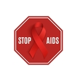 Stop AIDS sign vector image vector image