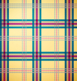 tartan yellow green magenta vector image