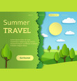 travel landing page holiday travelling mobile vector image