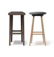 two bar stools vector image