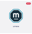 two color letter m icon from signaling concept vector image