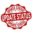 update status grunge rubber stamp vector image vector image