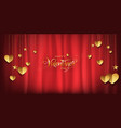 valentines day luxury background gold glitter vector image