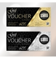 Voucher Gift certificate Coupon template Floral vector image vector image