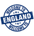 welcome to england blue stamp vector image vector image