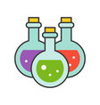 witch potion halloween related icon filled vector image