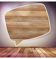 Wooden Speech Bubble template EPS 10 vector image vector image