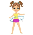 Cute little girl with her hula hoop vector image