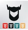 helmet knight icon vector image