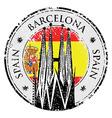 Grunge rubber stamp of Barcelona Spain vector image