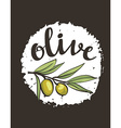 hand drawn olive label vector image
