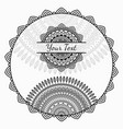 african background with round ornament vector image