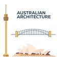australian architecture modern flat design vector image vector image