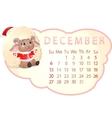 beautiful calendar vector image vector image