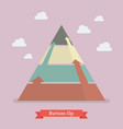 bottom-up pyramid business strategy vector image vector image