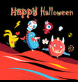 bright color background with monsters vector image vector image