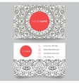 Business card template black red and white beauty vector image